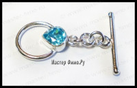 Тоггл Sterling Silver Faceted Blue Topaz