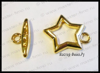 "Тоггл ""Fancy Star"" Gold Plated"