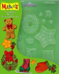 "Makin's Push Molds ""Christmas Decoration"""
