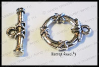 "Тоггл ""Tied Bamboo"" Antique Silver"